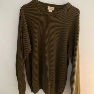Forest Green LL Bean Sweater